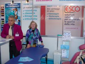 COSMOPROF 2007: I soci fondatori della società ESCO s.r.l. - Pierluigi Barlocchi ed Elsa Papetti