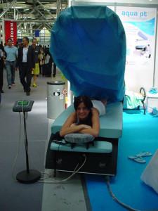 Pronta per un massaggio con la nuova aquamassage WES